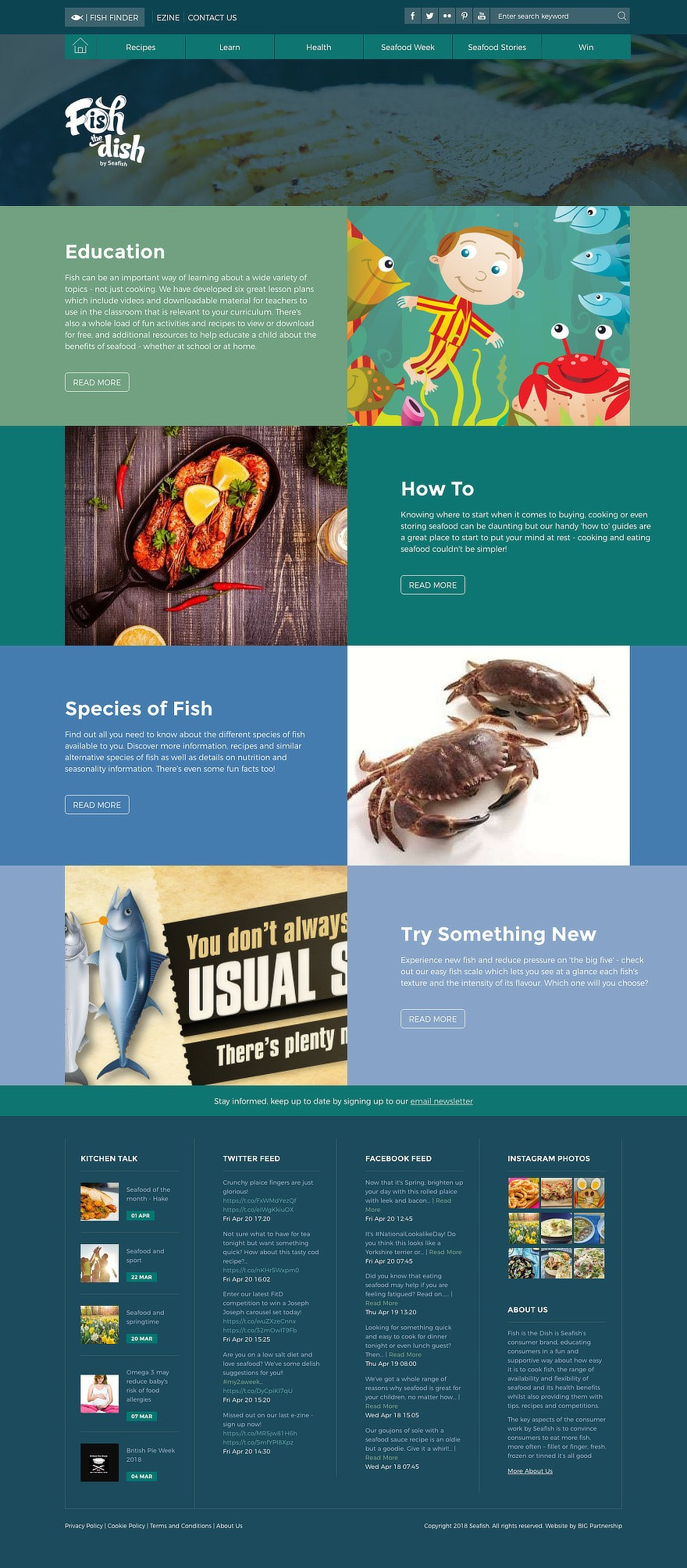 web design for Fish Is The Dish