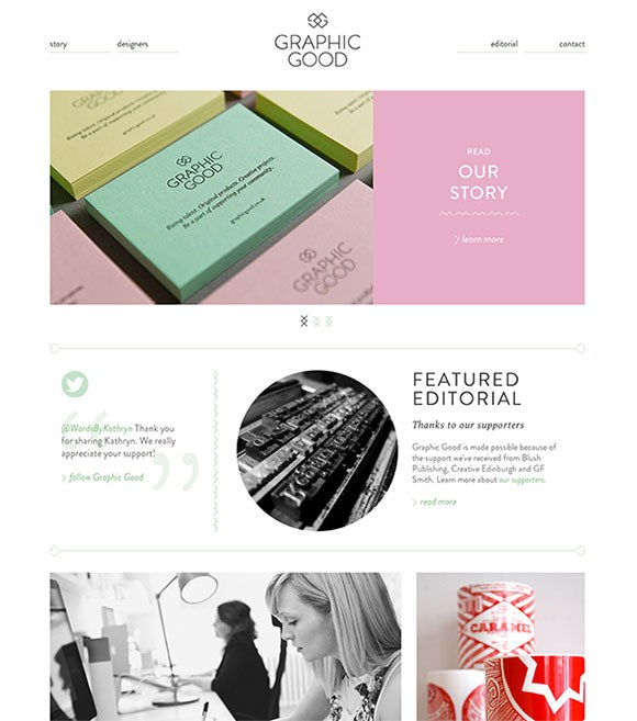 web design for Graphic Good, Edinburgh