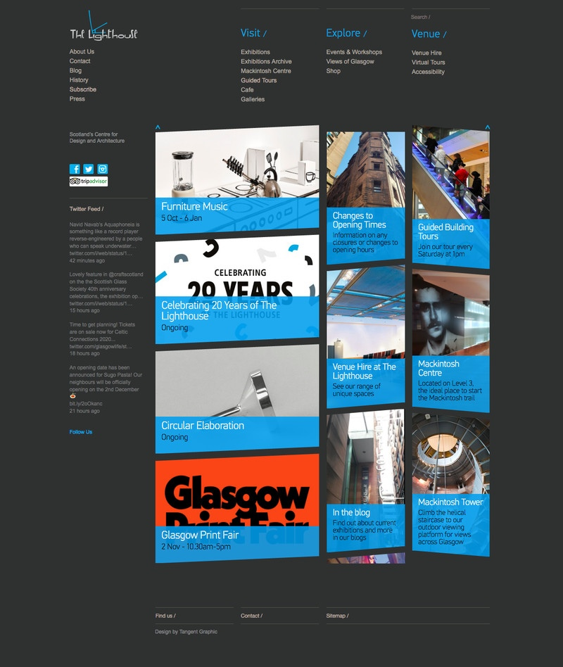 web design for The Lighthouse, Glasgow
